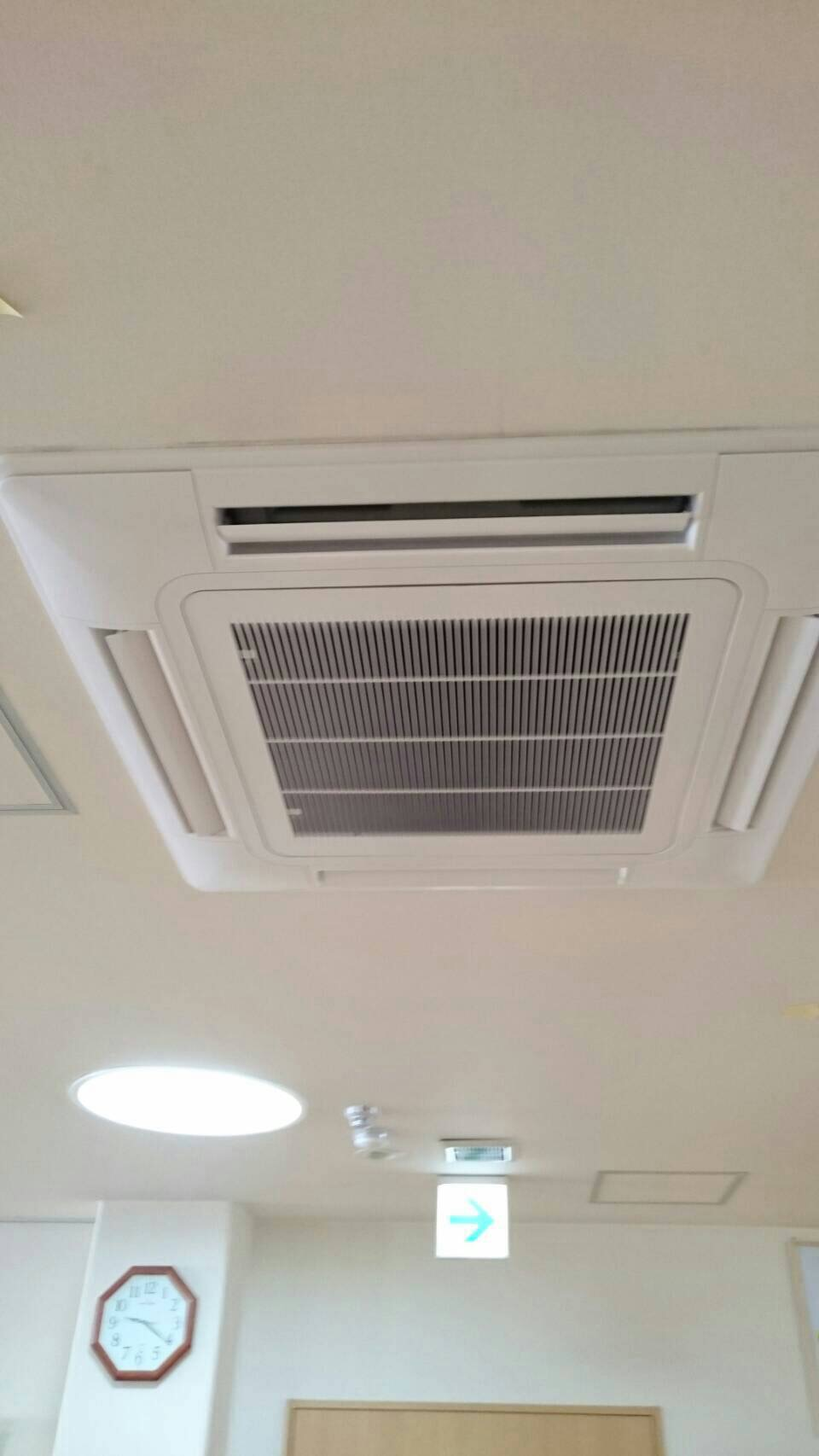 三菱電機 業務用エアコン修理 部品供給不可の為、リニューアル工事 施工日2016年8月22日